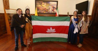 Gobernador Amaya, dió la bienvenida a las reinas Nacional del Bambuco e Internacional del Joropo