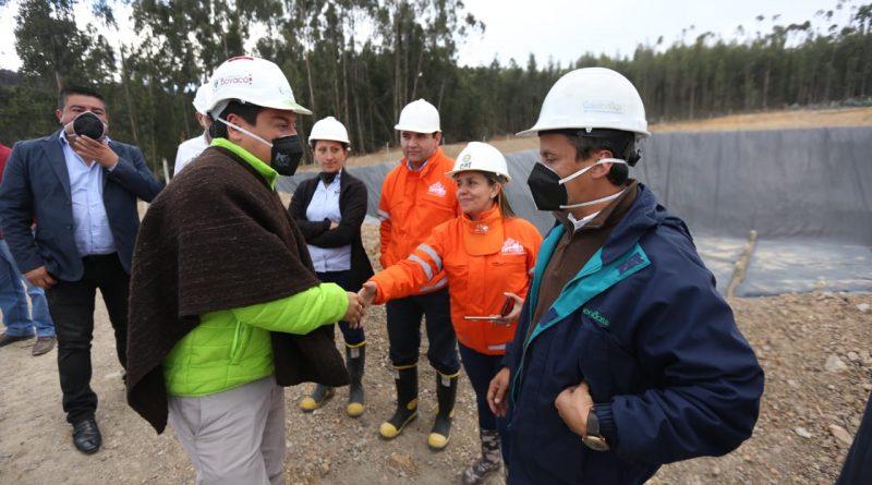 Gobernador Amaya verificó obras finalizadas de relleno sanitario de Sogamoso